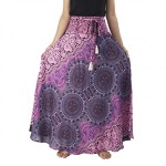 Lannaclothesdesign Women's Long Maxi Rose Multi Color Skirts Boho Skirts