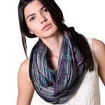 Festival Bliss Shimmer Multicolor Infinity Scarf Circle Shawl (11 NEW Colors)