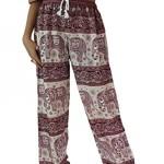 Bangkokpants Unisex Hippie Boho Elephant Pants One Size Red