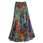 Women's Maxi Skirt – Menagerie Bold Colors Crinkle Long Dress