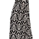 ColorMC Women's Boho Tribal Print Long Maxi Knit Skirt