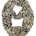 Peach Couture Women's Henna Print Infinity Loop Scarves