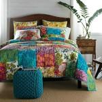 Tache 100% Cotton 3 Piece Colorful Flower Power Party Patchwork Quilt Set-Queen