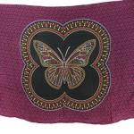 Bali handmade butterfly black fuchsia boho bedspread hippie wall art