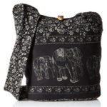 NaLuck Women's Elephant Hippie Crossbody Bag