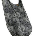 BTP! Thai Cotton Hippie Hobo Sling Crossbody Bag Messenger Purse Paisley Print Large