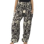 Lannaclothesdesign Women's Elephant Circle Boho Yoga Pants