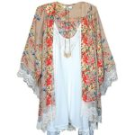 Smart Vintage Floral Loose Shawl Kimono Cardigan Boho Chiffon Coat Jacket Blouse