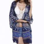 Swim,Beach Cover Up,Women Boho Chiffon Kimono Cover-ups,Cardigan for Bikini.
