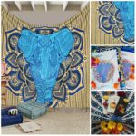 UrbanKnot Combo Set- Elephant in Mandala Hippie Bohemian Psychedelic Intricate Gypsy Indian Magical Thinking Tapestry Inclusive of Iphone 6/6s Cover