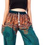 Lofbaz Women's Colourful Peacock Drawstring Harem Pants