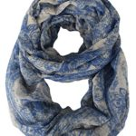 Peach Couture Beautiful Graphic Sunflower Paisley Print Infinity Loop Scarf