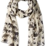 Peach Couture Chic Trendy Lightweight Animal Print Elephant Wrap Scarf Shawl