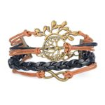 Kinzd® Happy Wishing Tree Life Friendship Karma Samsara Wish Hope Love Peace Charm Bracelet Boho