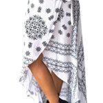 Doris Apparel Women's High-waisted Boho Asymmetrical Hem Tie up Maxi Wrap Skirt