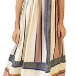 Tuesdays2 Women's Vintage Color Striped Summer Boho Maxi Dress Sundress