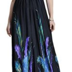 Wantdo Women's Boho Bohemian V Neck Beach Maxi Dress Plus Size