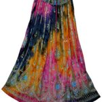 FOI Rayon Skirt Indian Hippie Rock Gypsy Jupe Retro Boho Falda Women Ethnic