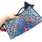 Weixinbuy Women's Embroidered Purse Clutch Bag Shoulder bag Crossbody Messenger