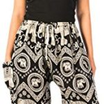 Lofbaz Women's Elephants Floral Drawstring Harem Pants