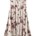 Choies Women's Floral Sleeveless Cut Out Boho Beach Swing Mini Sun Dress