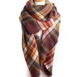 Zando Soft Warm Tartan Plaid Scarf Shawl Cape Blanket Scarves Fashion Wrap