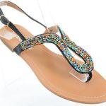 Colorful Boho Summer Thong Slip On Flip-flop Flat Sandals