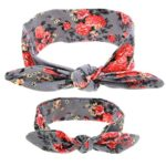 Mom and Me Headband Boho Baby Girls Headwrap Knotted Hairband Hair Flower Bow Set