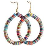 Bohemian Multi-Colored Sequin Hoop Gold Earrings – SPUNKYsoul Collection