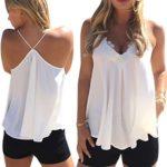 Perman Women's Summer Chiffon Vest Sleeveless Shirt Casual Blouse Tank Tops (L)
