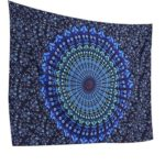 Jescrich Psychedelic Wall Hanging Tapestry Large Size Bohemian Tapestries(L,BluePeacock)