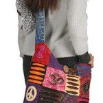 Blue Red Hobo Cotton Sling Cross Body Messenger Shoulder Bag Hippie Boho Bohemian Lightweight Roomy Spacious