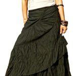 BTS Sexy Wrap Skirt Pleated Gypsy Flamenco Long Skirts For Women