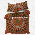 "Exclusive BOHO DUVET COVER WITH PILLOWCASES By ""MADHU INTERNATIONAL, Mandala quilt , Boho duvet cover, doona cover"