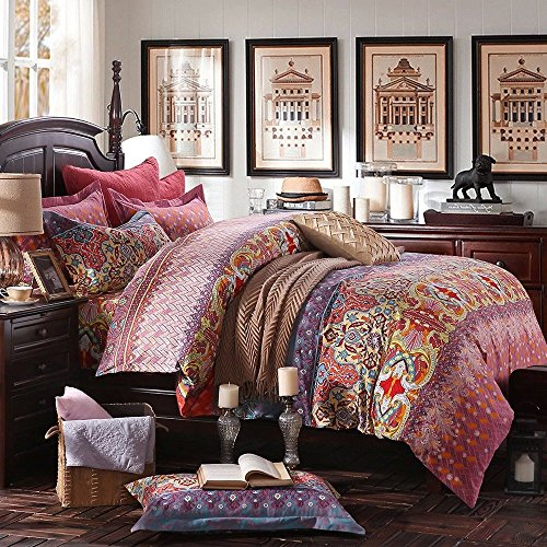Lelva Bohemian Exotic Colorful Ethnic Style Bedding Sets