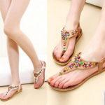 ZHIHONG Womens Ladies Summer Thong Sandals Flats Toe Post Flip Flops Casual Boho Shoes