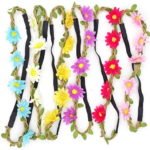 DDazzling 6PCS Floral Flower Beach Women Girls Hairband Headband Festival Party