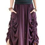 BohoHill Convertible Maxi Skirt Pants Cotton Jersey Versatile Skirt
