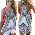 Perman Women Summer Printing Vest Sleeveless Shirt Blouse Casual Tank Tops