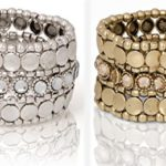 New! Stunning Boho Stretch Bracelet with Gemstones Gold or Silver | SPUNKYsoul Collection