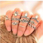 Rings,Lisingtool 10 Pcs/ Set Boho Fashion Arrow Moon Midi Finger Knuckle Rings