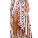 NORAME Women's Summer Beach Boho Floral Maxi Long Skirt Wraped Dress