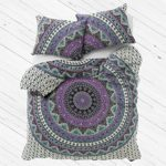"""Exclusive Queen Indian Mandala Duvet cover WITH PILLOWCASES By """"MADHU INTERNATIONAL, Mandala quilt cover, Boho duvet cover"""