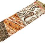 Beautiful flower boho retro double sided soft silky satin long skinny scarf