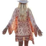 Women's Blouse, Laimeng Boho Printed Chiffon Loose Shawl Kimono Cardigan Tops