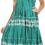 Sakkas Delilah Gypsy Boho Peasant Batik Dress