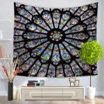 Alicemall Bohemian Tapestry Colorful Black Mandala Tapestry Wall Hanging Indian Boho Tapestries Beach Throw Trippy Tapestries Decorative Floral Bedspread Dorm Room Wall Hanging, 60 x 80 inches (Black)