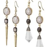 New! Crystal and Spike Distressed Boho Earrings for Women | SPUNKYsoul Collection