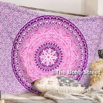 """Exclusive Heart Ombre Mandala Tapestry By """"The Boho Street"""", Amazing Valentine Gift , Indian Mandala Wall Art, Hippie Wall Hanging, Bohemian Bedspread"""