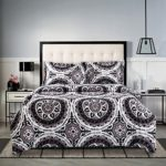 3 Piece Duvet Cover and Pillow Shams Bedding Set, Bohemian Boho Mandala, Soft Microfiber (Queen Size)